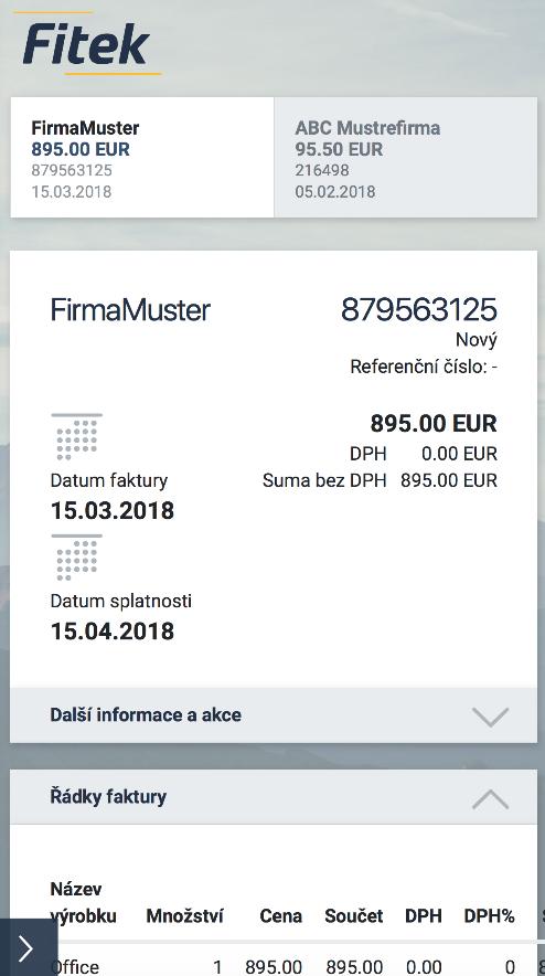 PŘESUN DAT DO ERP (SAP, MICROSOFT NAV)